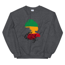 "Load image into Gallery viewer, ""Black History"" Unisex Sweatshirt"