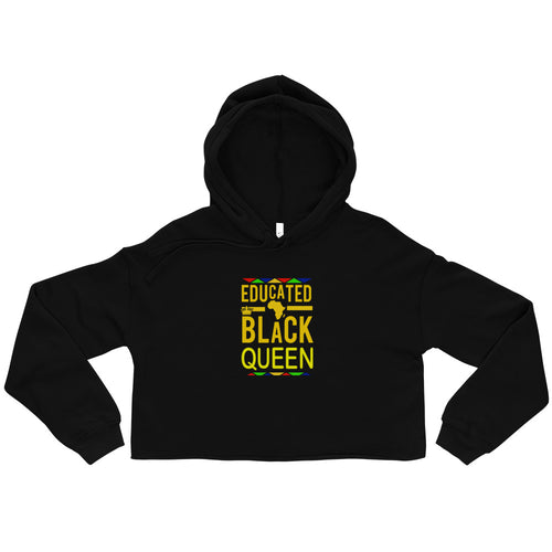 """Educated Black Queen"" Crop Hoodie"