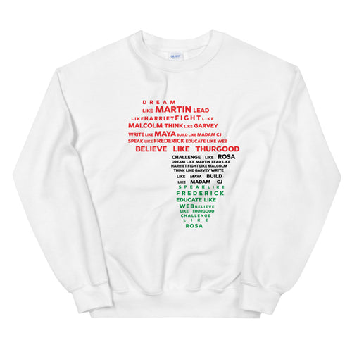"""Dream Like Martin"" Unisex Sweatshirt"
