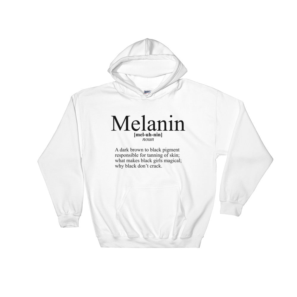 """Define Melanin"" Hooded Sweatshirt"