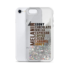 "Load image into Gallery viewer, ""Melanin Flavors"" Liquid Glitter Phone Case"