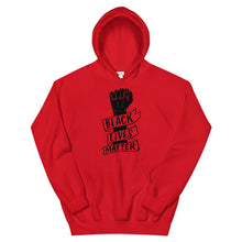 "Load image into Gallery viewer, ""Black Lives Matter Fist"" Unisex Hoodie"