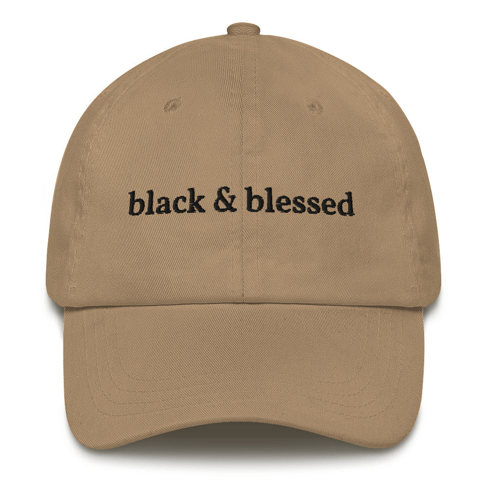 """Black and Blessed"" Dad hat"