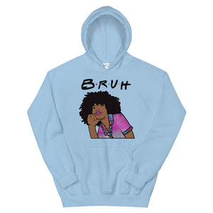 """Bruh"" Unisex Hooded Sweatshirt"