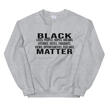 "Load image into Gallery viewer, ""Black People Matter"" Unisex Sweatshirt"