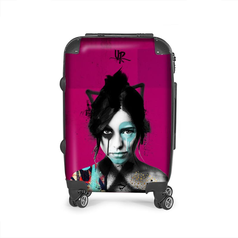 Urban Punkz suitcase in Violet front view