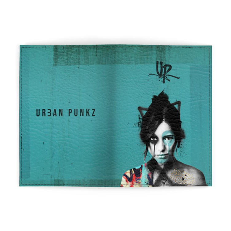 Urban Punkz Turquoise Passport cover