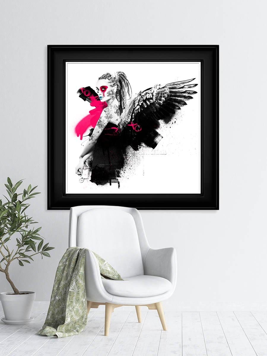 Fight or Flight limited edtion print by urban punkz interior