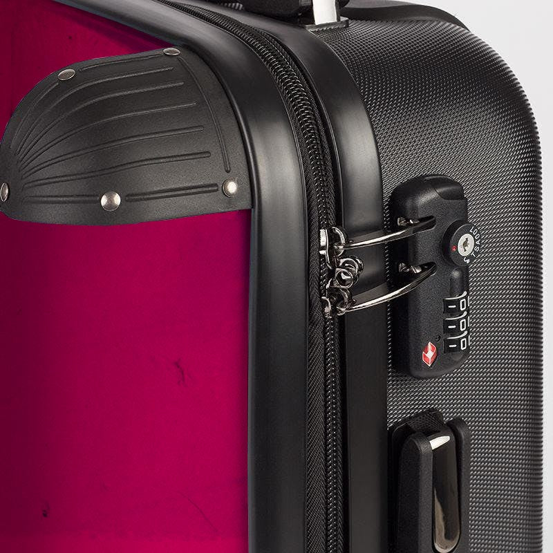 Urban Punkz suitcase in Violet detail