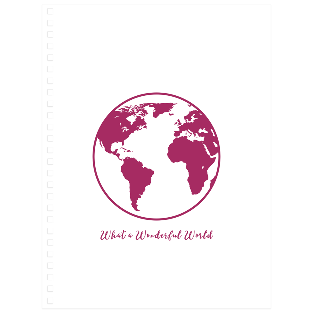 What a Wonderful World Notebook