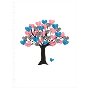 Heart filled Tree. Notebooks with the Tree of Love