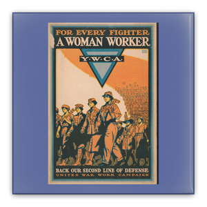 World War 1 Patriotic Poster Pin-Back Buttons For Every Fighter A Woman Worker YWCA