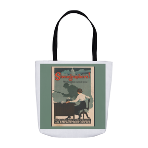 World War 1 Stenographer Patriotic Poster Tote Bags