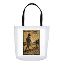 Load image into Gallery viewer, World War 1 Women Plough National Service Women's Land Army Tote Bags