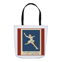 Load image into Gallery viewer, Figure Skater, Winter Olympic Vintage Skater Tote Bags