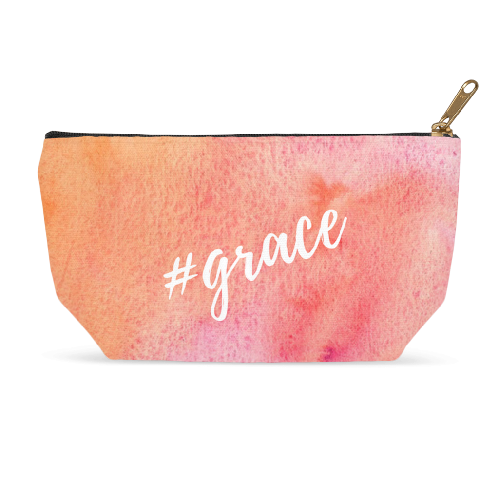 Grace with a Hashtag, Cosmetic Bag  Accessory Pouches