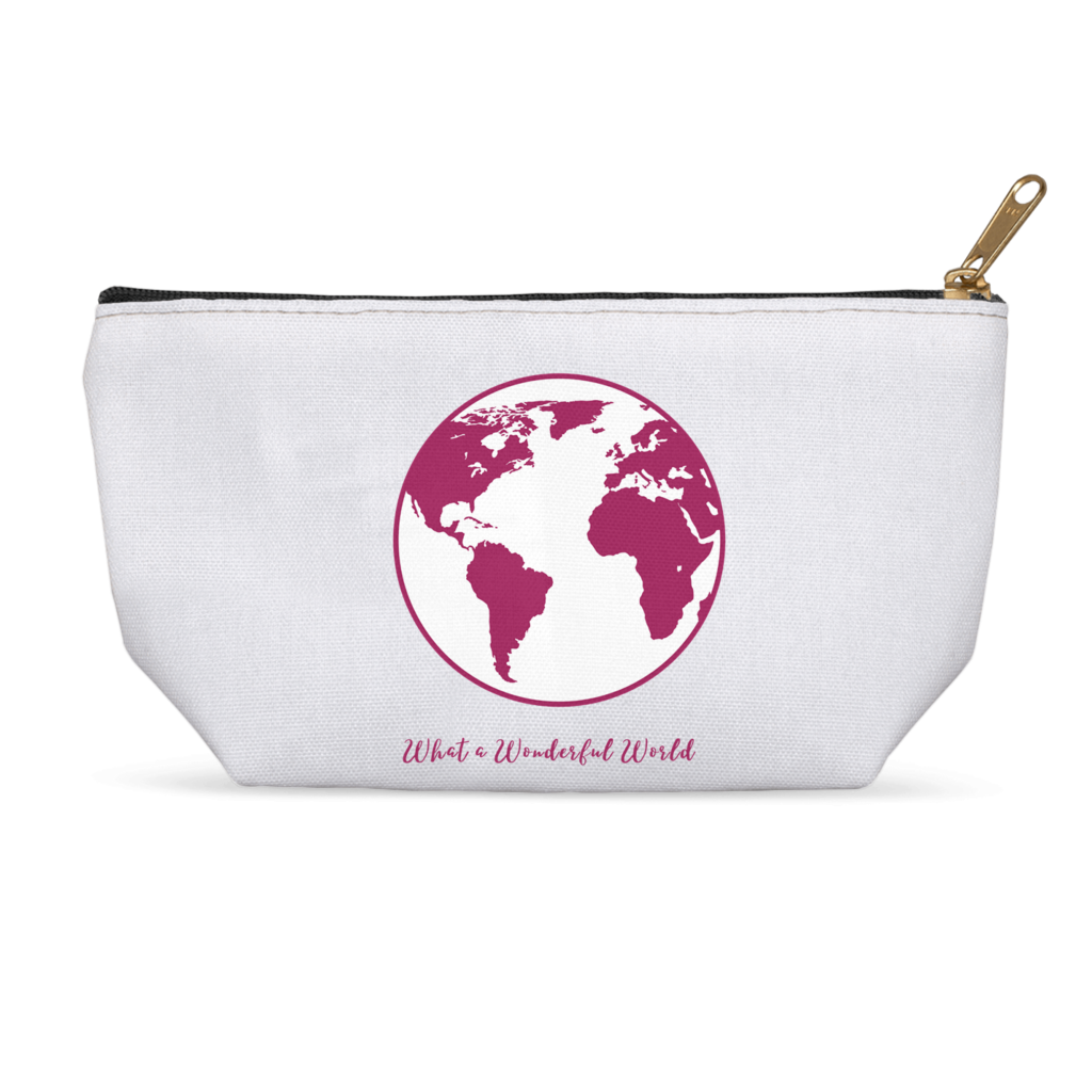 What a Wonderful World Cosmetic and Accessory Bags