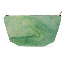 Load image into Gallery viewer, Green Watercolor Cosmetic Bag & Accessory Pouch