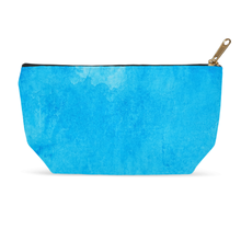Load image into Gallery viewer, Blue Watercolor Cosmetic Bag and Accessory Pouch