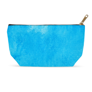 Blue Watercolor Cosmetic Bag and Accessory Pouch