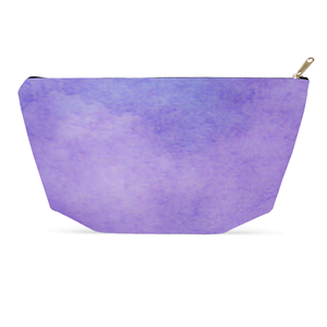 Purple Watercolor Cosmetic Bag and Accessory Pouch