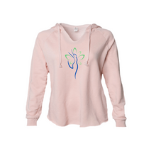 Load image into Gallery viewer, Yoga Woman Spirit Freedom and Joy Hoodie in Blush and Sage