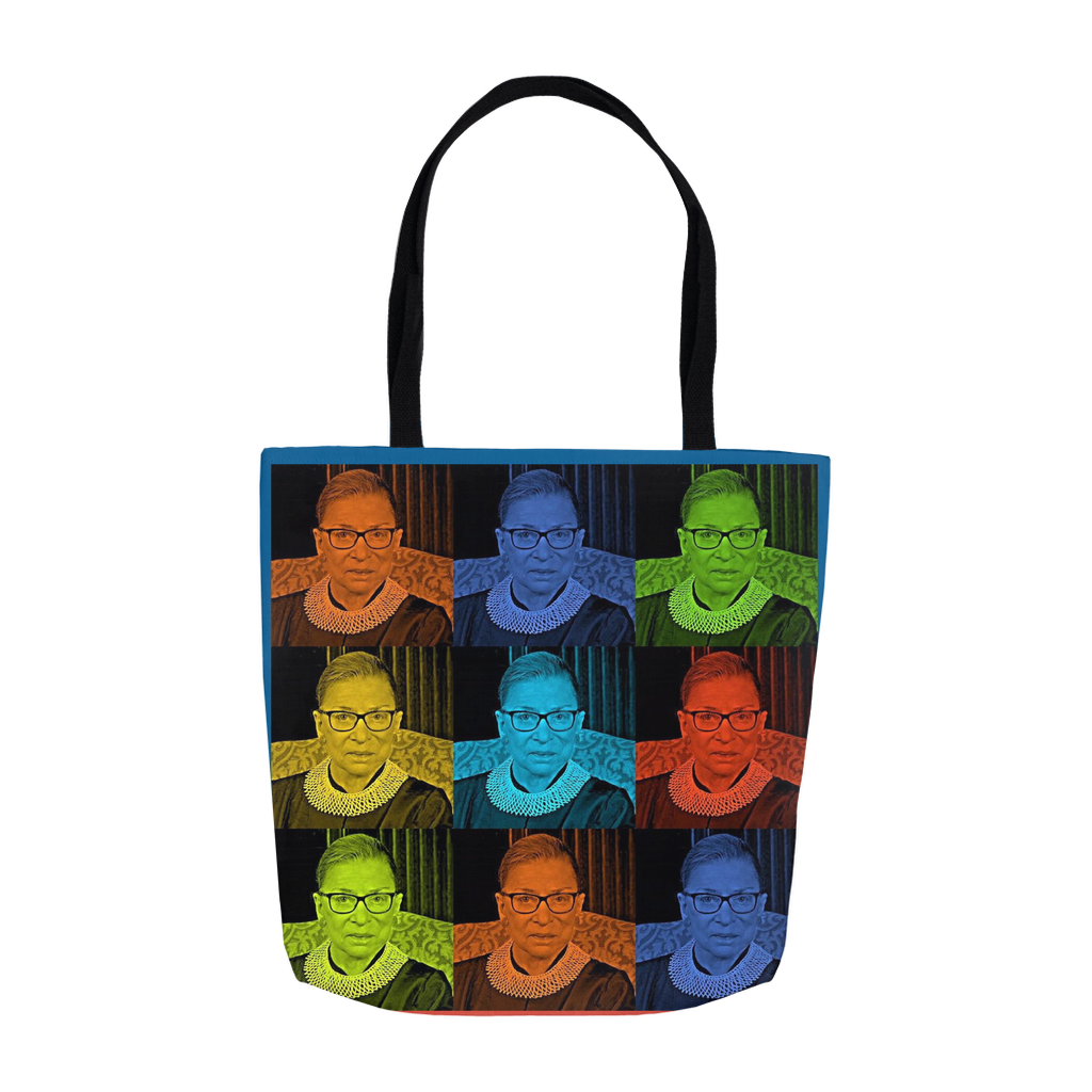 Ruth Bader Ginsburg Tote Bags, Notorious RBG, Pop Art,  Three Sizes!