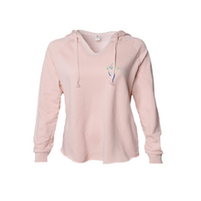 Load image into Gallery viewer, Woman Spirit Freedom and Joy Hoodie in Blush and Sage XS to 2XL