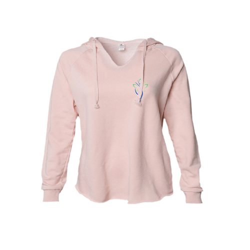 Woman Spirit Freedom and Joy Hoodie in Blush and Sage XS to 2XL
