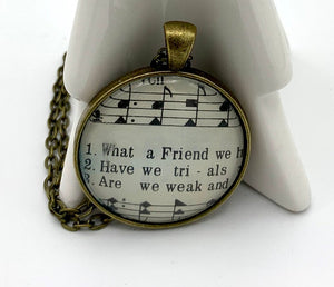 What A Friend Hymn Pendant