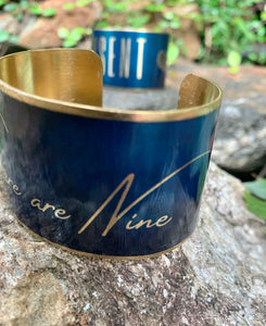 When there are Nine Ruth Bader Ginsburg Cuff Bracelet, Brass
