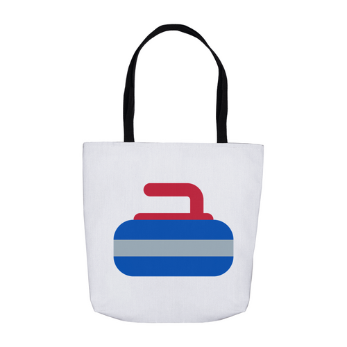 Curling Stone, Curling Rock, Tote Bag  Three Sizes!