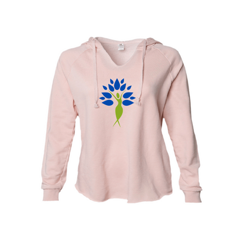 Yoga Tree of Life Hoodie in Blush and Sage