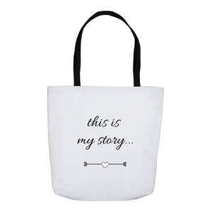 This is my Story Tote Bags