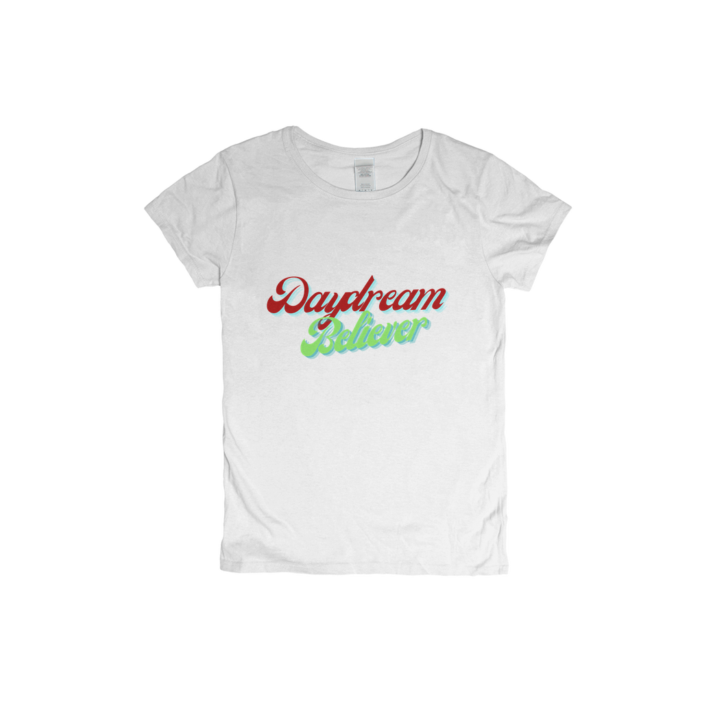 Daydream Believer Red and Green Woman T-Shirt XS to XXXL Comfy Fit