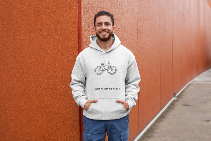 I Want to Ride My Bicycle Hoodies (No-Zip/Pullover)