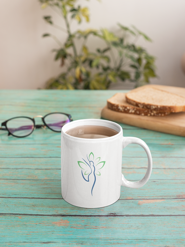 Yoga Wellness Health Woman Butterfly Wings Mug