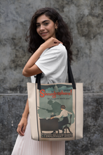Load image into Gallery viewer, World War 1 Stenographer Patriotic Poster Tote Bags