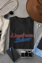 Load image into Gallery viewer, Daydream Believer Blue and Red Woman T-Shirt XS to XXXL Comfy Fit