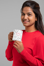 Load image into Gallery viewer, Grey and Red Heart Mug