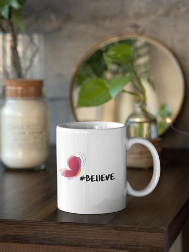 Butterfly Believe Ceramic Mug