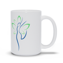 Load image into Gallery viewer, Yoga Wellness Health Woman Butterfly Wings Mug