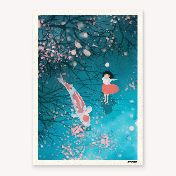 Poster Koi Tranh Poster Monosketch Dom Illustration