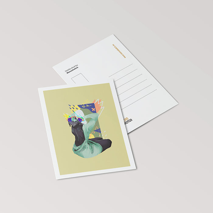 monosketch postcard Emotion Up My Sleeves - camelia pham