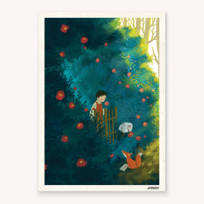 Poster Hello Tranh Poster Monosketch Dom Illustration