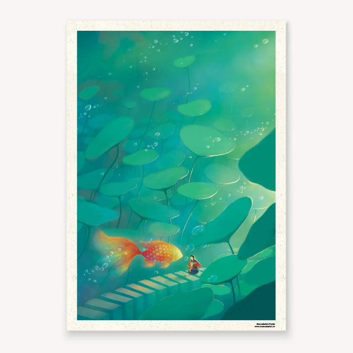 monosketch poster hi goldfish - dom illustration