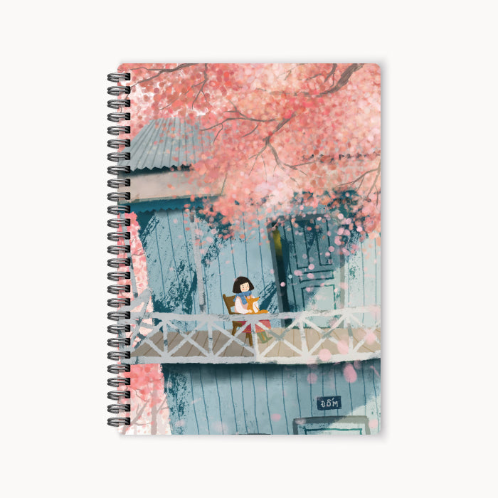 monosketch wirebound notebook cherry blossom