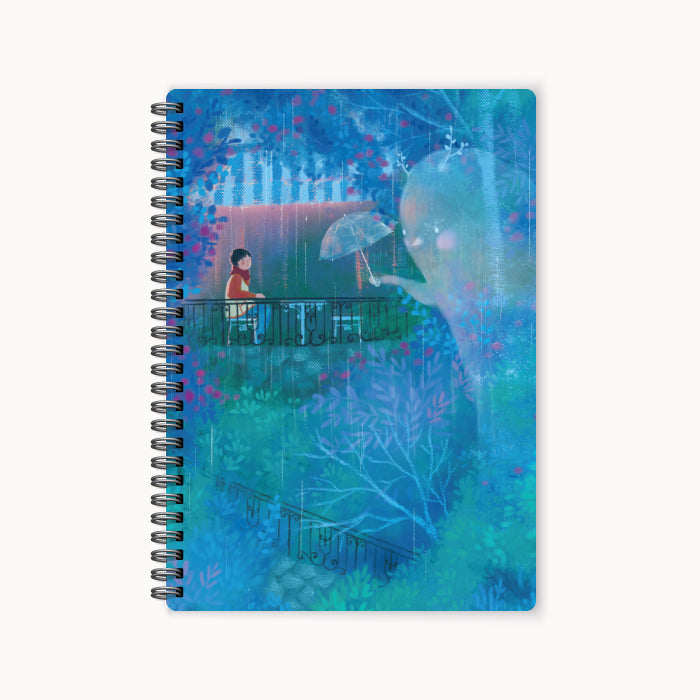 monosketch wirebound notebook Come With The Rain