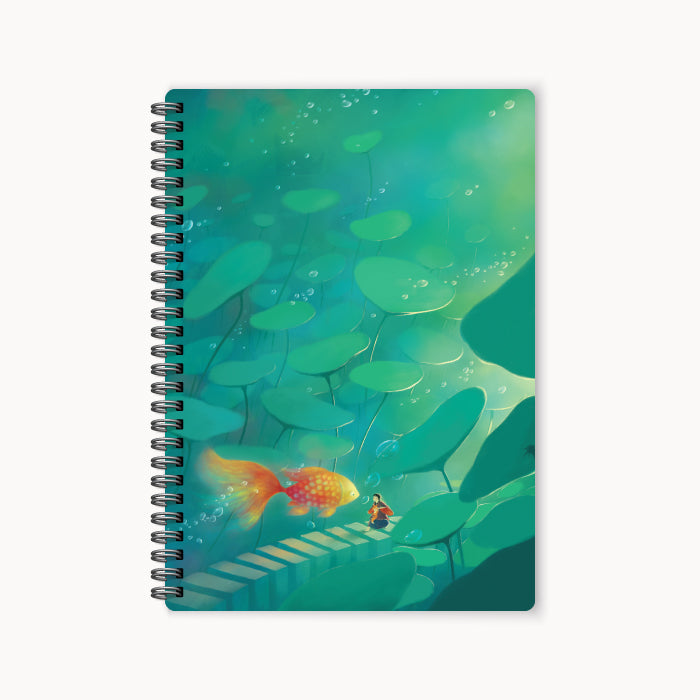 monosketch wirebound notebook Hi Gold Fish