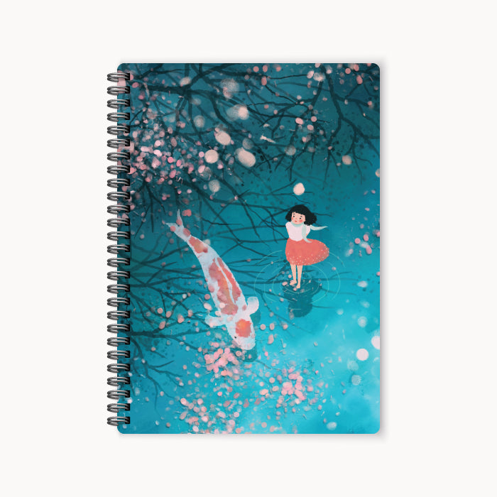monosketch wirebound notebook koi